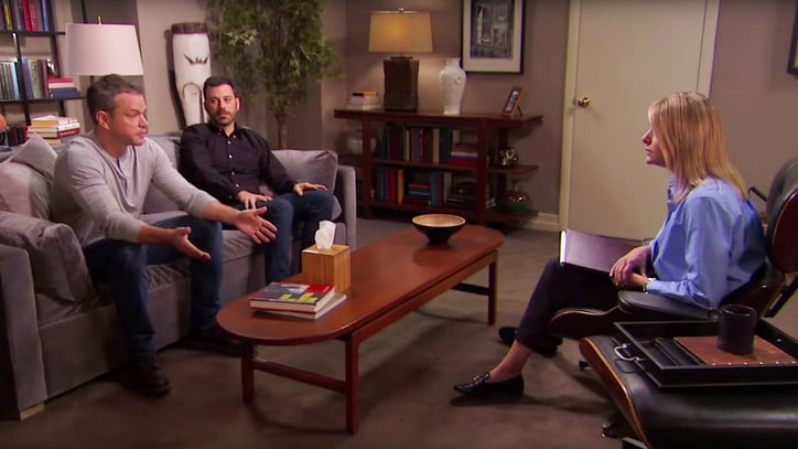 Watch Matt Damon, Jimmy Kimmel Take Feud to Couples Therapy