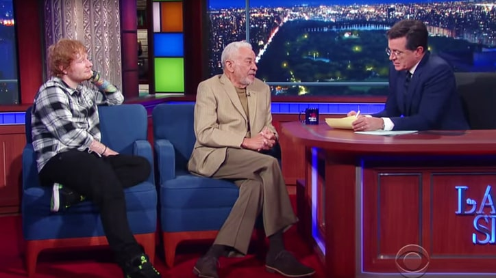 Ed Sheeran, Bill Withers Talk Growing Up Stutterers on 'Colbert'