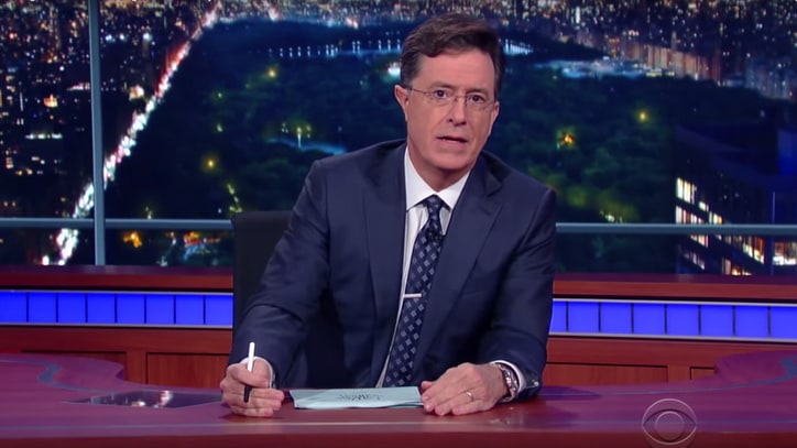 Watch Stephen Colbert's Powerful Monologue About Oregon Shooting