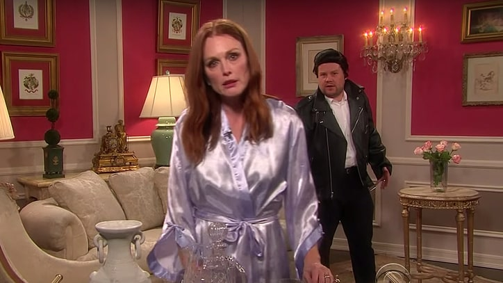 Julianne Moore, John Stamos Act in Taylor Swift Soap Opera on 'Corden'