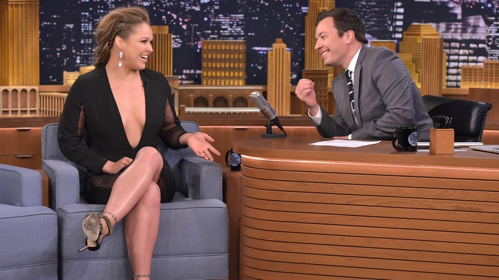 Watch Ronda Rousey Challenge Jimmy Fallon to a 'Mario Kart' Rematch