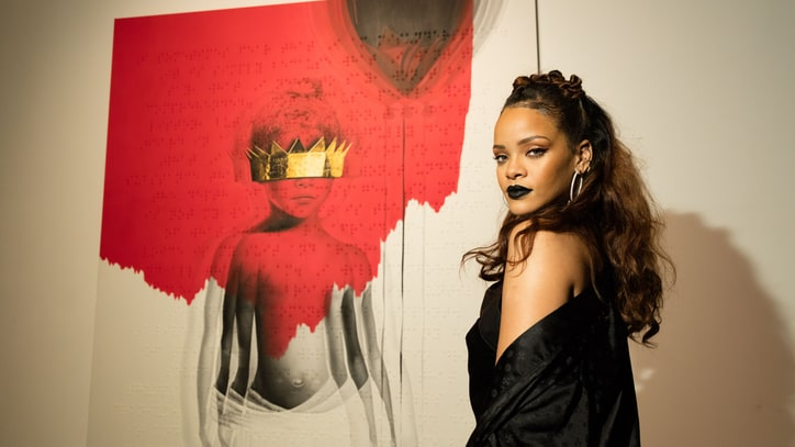 Inside Rihanna's Glitzy, Artsy Album Cover Launch