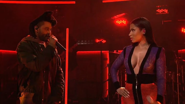 Watch the Weeknd Bring Out Nicki Minaj on 'SNL'