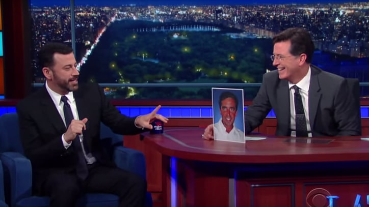 Stephen Colbert, Jimmy Kimmel Discuss 'Real King of Late-Night'