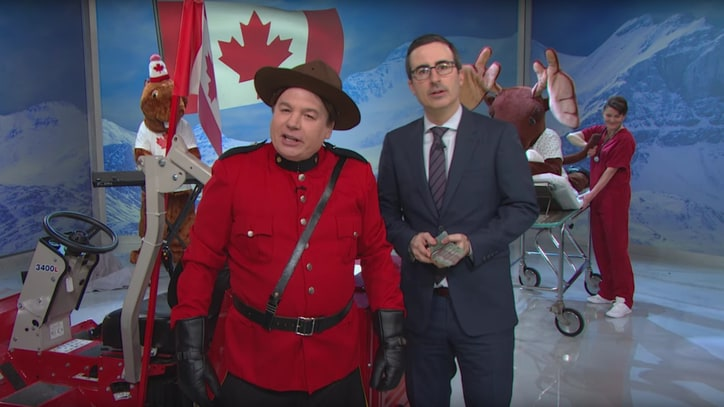 John Oliver, Mike Myers Lobby Canadians to Not Vote Stephen Harper