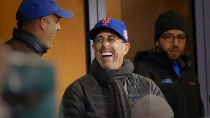 Jerry Seinfeld Definitely Enjoyed the Mets' Game 2 Win