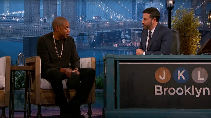 Jay Z Talks High School Rap Battle With Busta Rhymes on 'Kimmel'