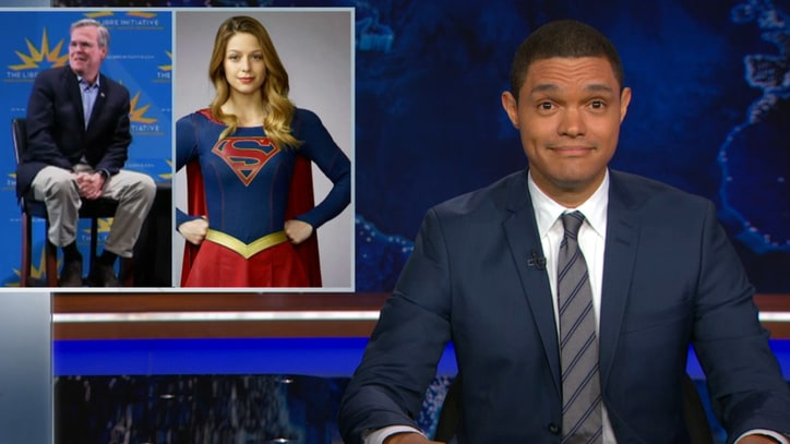 Watch 'Daily Show' Blast Jeb Bush For Creepy 'Supergirl' Comments