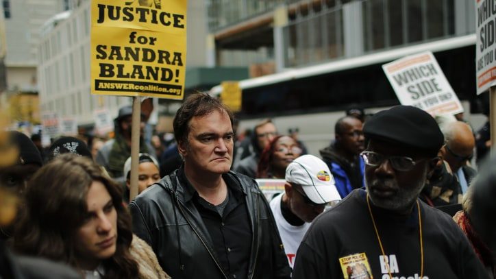 Quentin Tarantino, NYPD Spar Over Police Brutality Rally