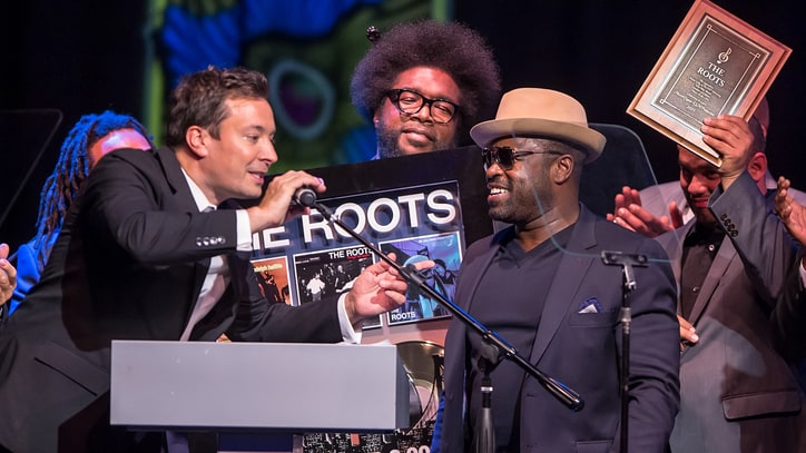 Watch Jimmy Fallon Induct the Roots Onto Philadelphia Walk of Fame