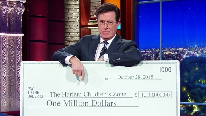 Stephen Colbert Dares Trump to Donate $1 Million to Charity
