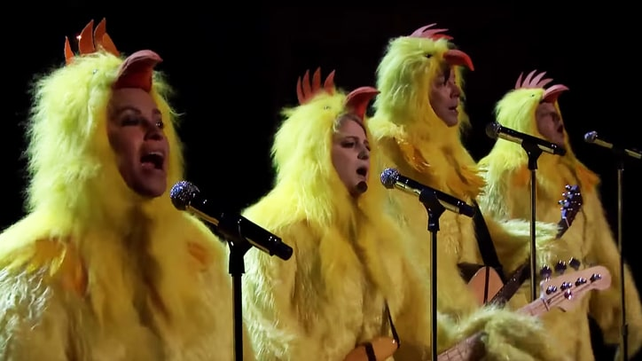 Watch Alanis Morissette, Meghan Trainor Cluck 'Ironic' on 'Fallon'