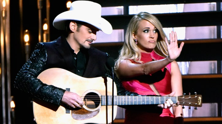 Brad Paisley and Carrie Underwood's 5 Funniest CMA Awards Moments