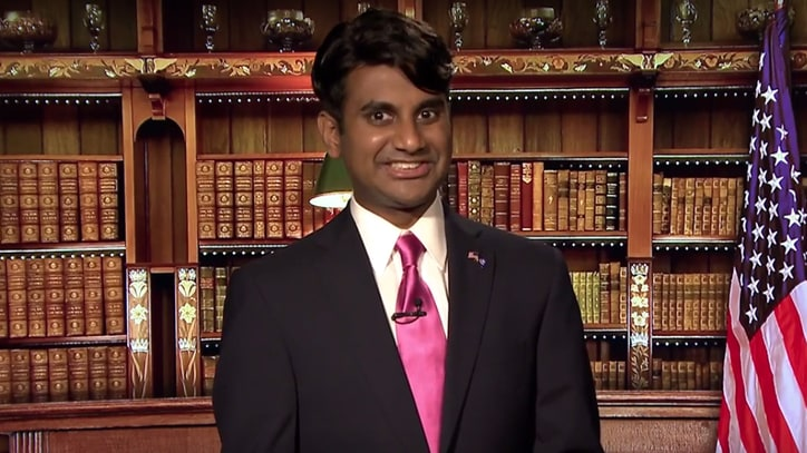 Aziz Ansari as Bobby Jindal Talks Polls, 'Science Myths' on 'Fallon'