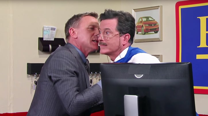 Stephen Colbert Dashes Daniel Craig's Plans in Hilarious 'Spectre' Scene