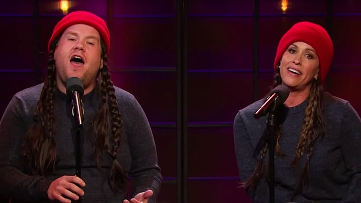 Watch Alanis Morissette, James Corden Update 'Ironic' Lyrics