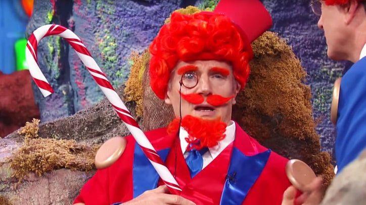 Watch Liam Neeson, Colbert in Hilarious 'Candy Crush' Movie Sketch