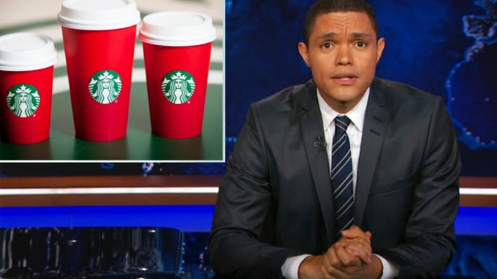 Watch 'Daily Show' Blast Trump for Backing Starbucks Christmas Boycott