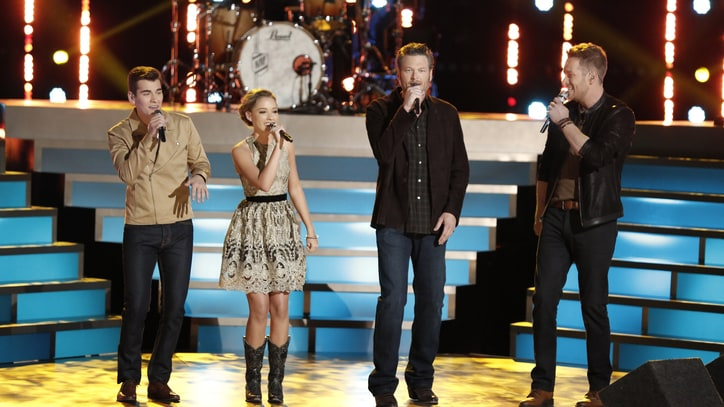 See Blake Shelton and 'Voice' Team Sing 'Lean on Me'