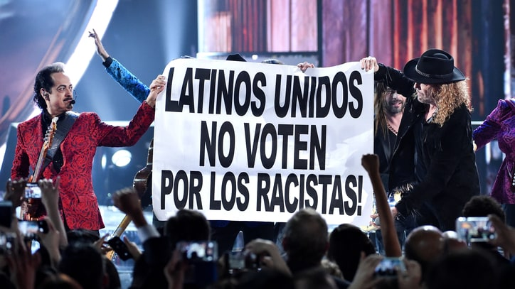 Watch Donald Trump Get Bashed Over Immigration Policy at Latin Grammys