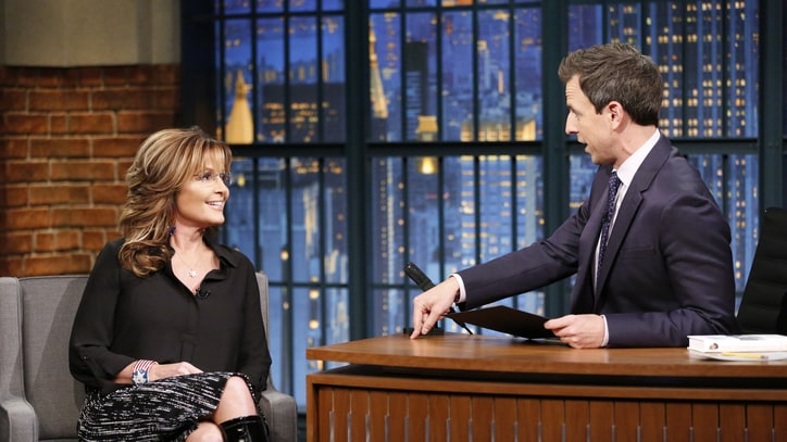 Seth Meyers, Sarah Palin Spar Over 'Fear-Based' Response to Syrian Refugees
