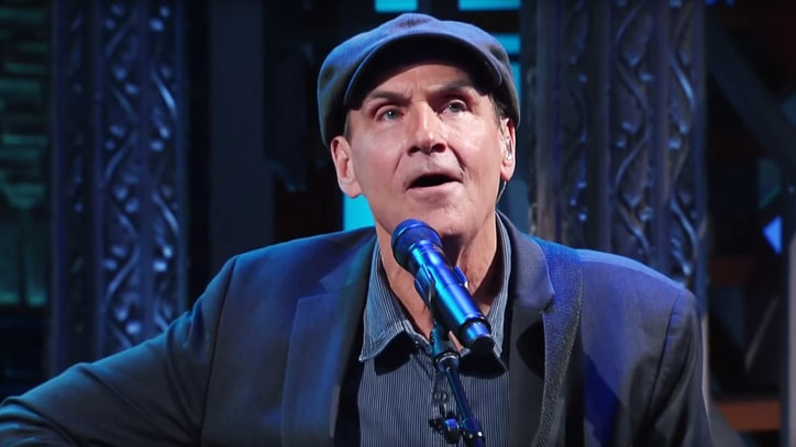 James Taylor Performs Somber French National Anthem on 'Colbert'