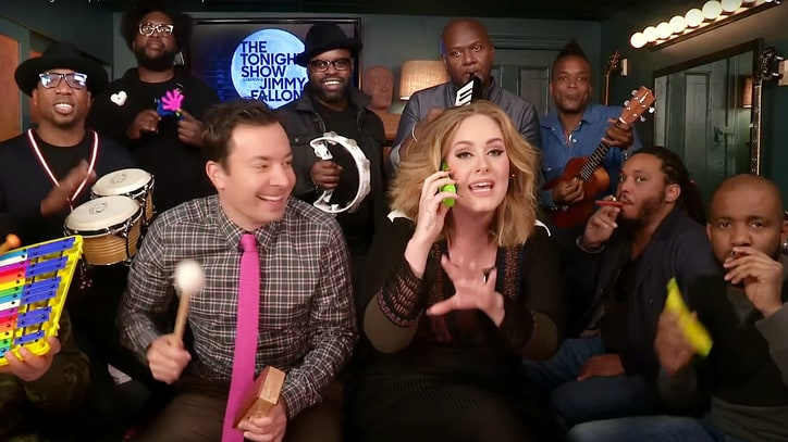 Watch Adele, Fallon, Roots Sing 'Hello' With Classroom Instruments