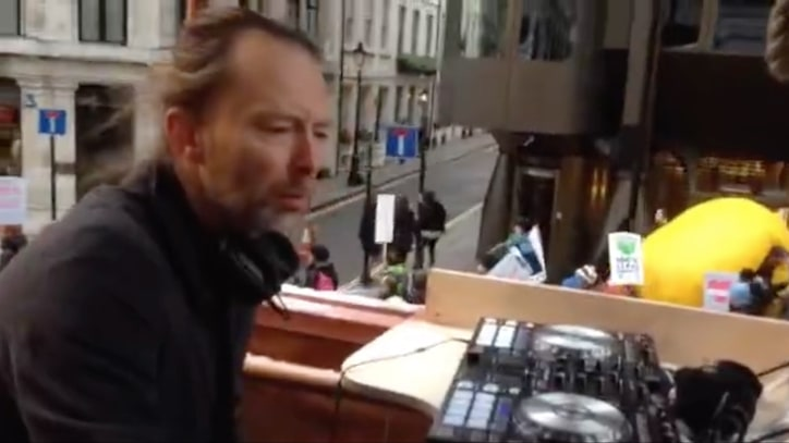 Thom Yorke DJs at London Climate March
