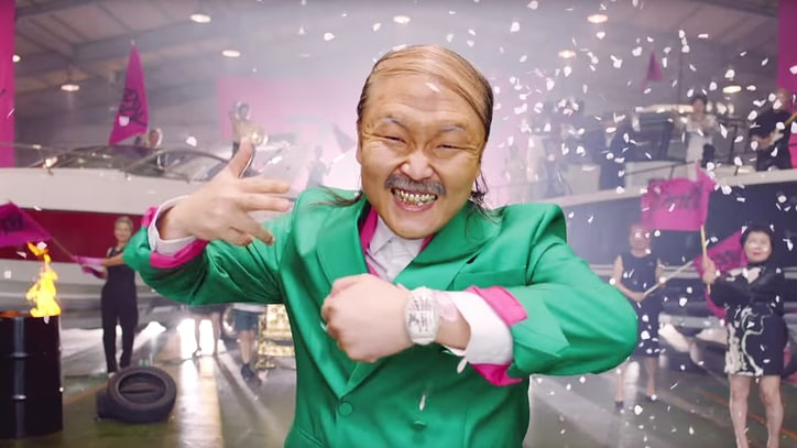 Watch Psy Play Baby, Old Man in Wacky 'Daddy' Video