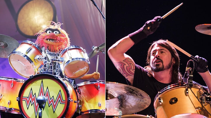 Dave Grohl, Animal Hit the Skins in Epic 'Muppets' Drum Battle