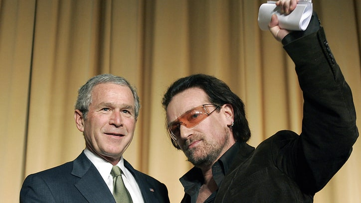 Watch George W. Bush Praise Bono's AIDS Efforts