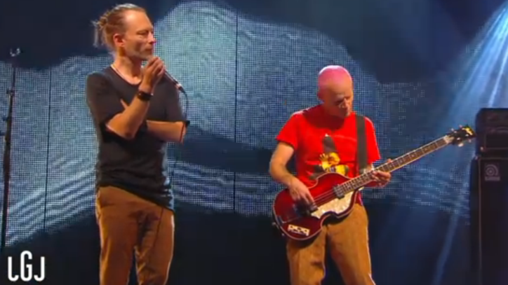 Watch Thom Yorke, Flea Reunite to Perform 'Atoms For Peace'