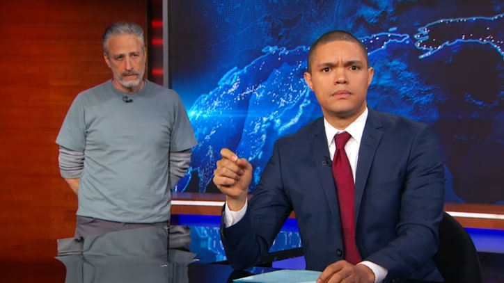 Jon Stewart Makes Surprise 'Daily Show' Return for 9/11 First Responders