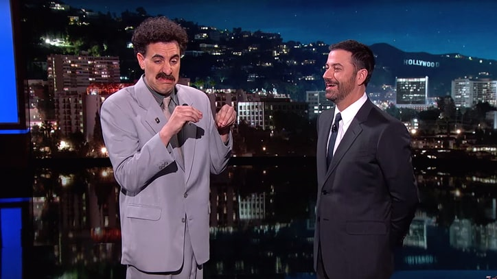 Sacha Baron Cohen Revives Borat to Mock Trump, Show 'Grimsby' Trailer