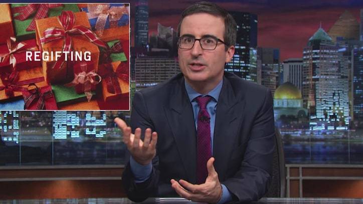 Watch John Oliver's Hilarious Holiday Re-Gifting Tips