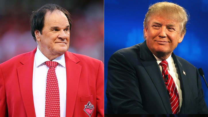 Donald Trump Says It's 'Ridiculous' Pete Rose Isn't in the Hall Of Fame