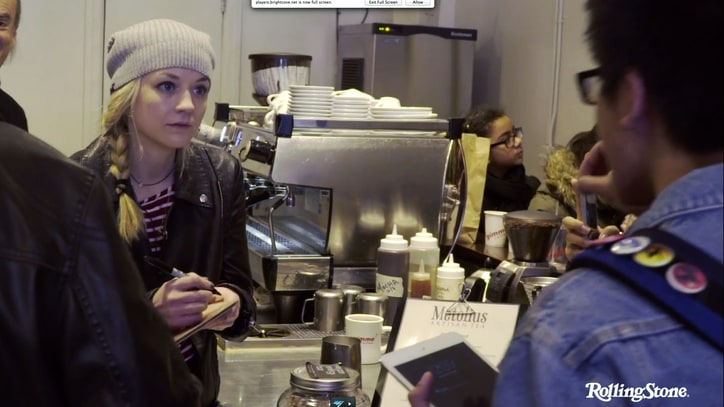 Watch 'Walking Dead' Actress Emily Kinney Serve Coffee, Talk Songwriting