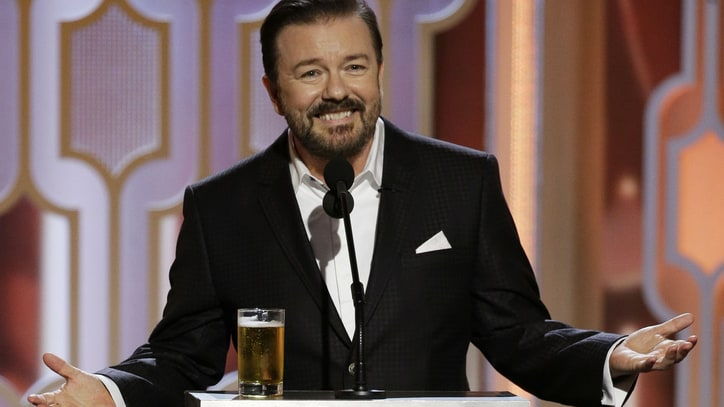 Watch Ricky Gervais' Hilarious Golden Globes 2016 Monologue