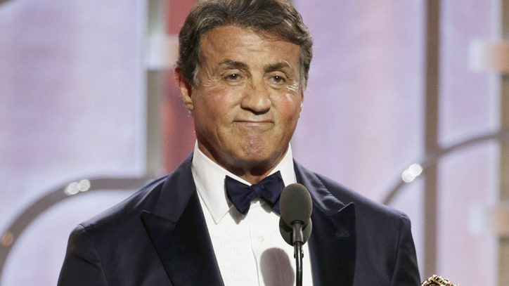 Watch a Tearful Sylvester Stallone Win First-Ever Golden Globe