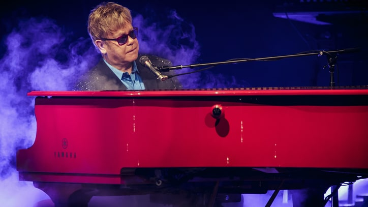 Elton John Honors David Bowie, Duets With Demi Lovato at Intimate L.A. Gig