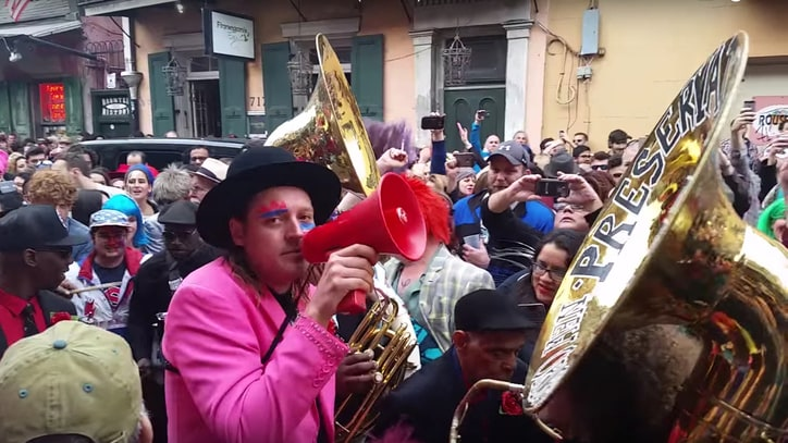 See Arcade Fire's Second Line Parade Celebrating David Bowie