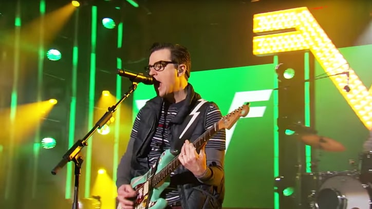 Watch Weezer 'Get High,' 'Thank God' on 'Kimmel'