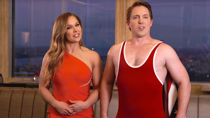 Watch Ronda Rousey Break Beck Bennett in 'SNL' Promo
