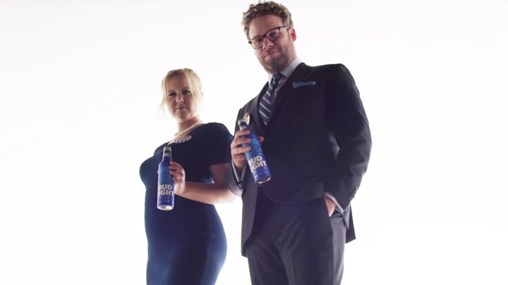 Amy Schumer, Seth Rogen Hint at Boozy Campaign in Super Bowl Ad Teaser