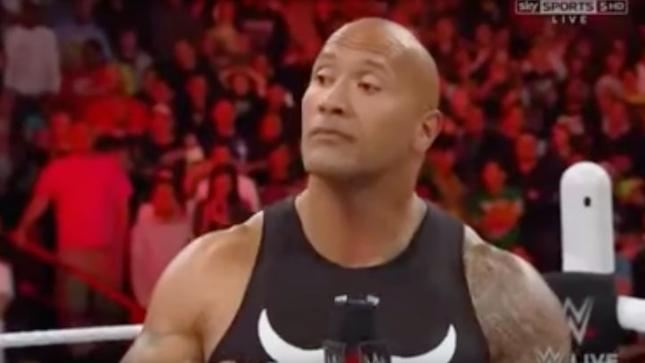 Watch the Rock Return to WWE, Run 'Raw' Off the Rails