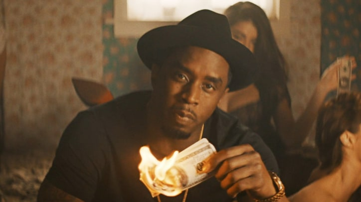 Puff Daddy Burns Billions in Outlandish 'Blow a Check' Video