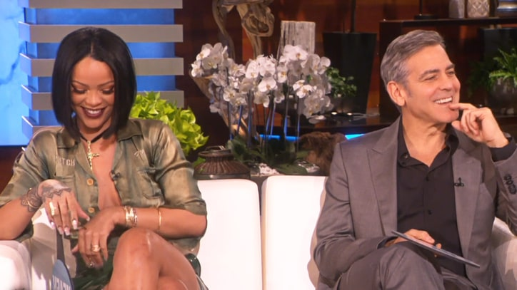 Watch Rihanna, George Clooney Play 'Never Have I Ever' on 'Ellen'