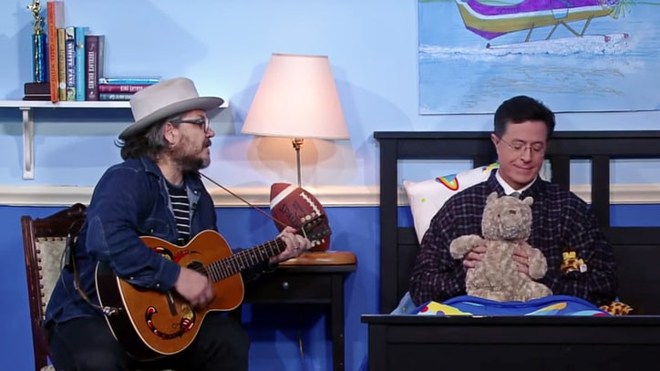 Watch Wilco's Jeff Tweedy Sing Stephen Colbert a Lullaby