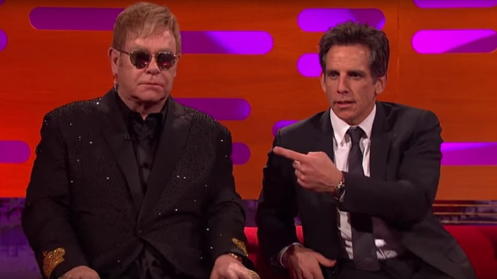 Watch Ben Stiller Teach Elton John How to 'Blue Steel'