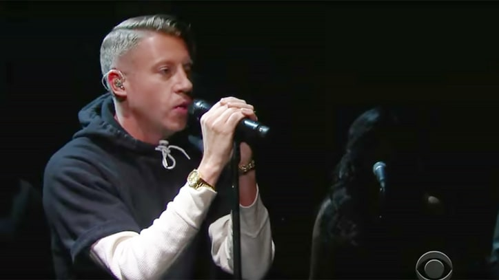See Macklemore Give Mic to 'White Privilege' Black Poets on 'Colbert'